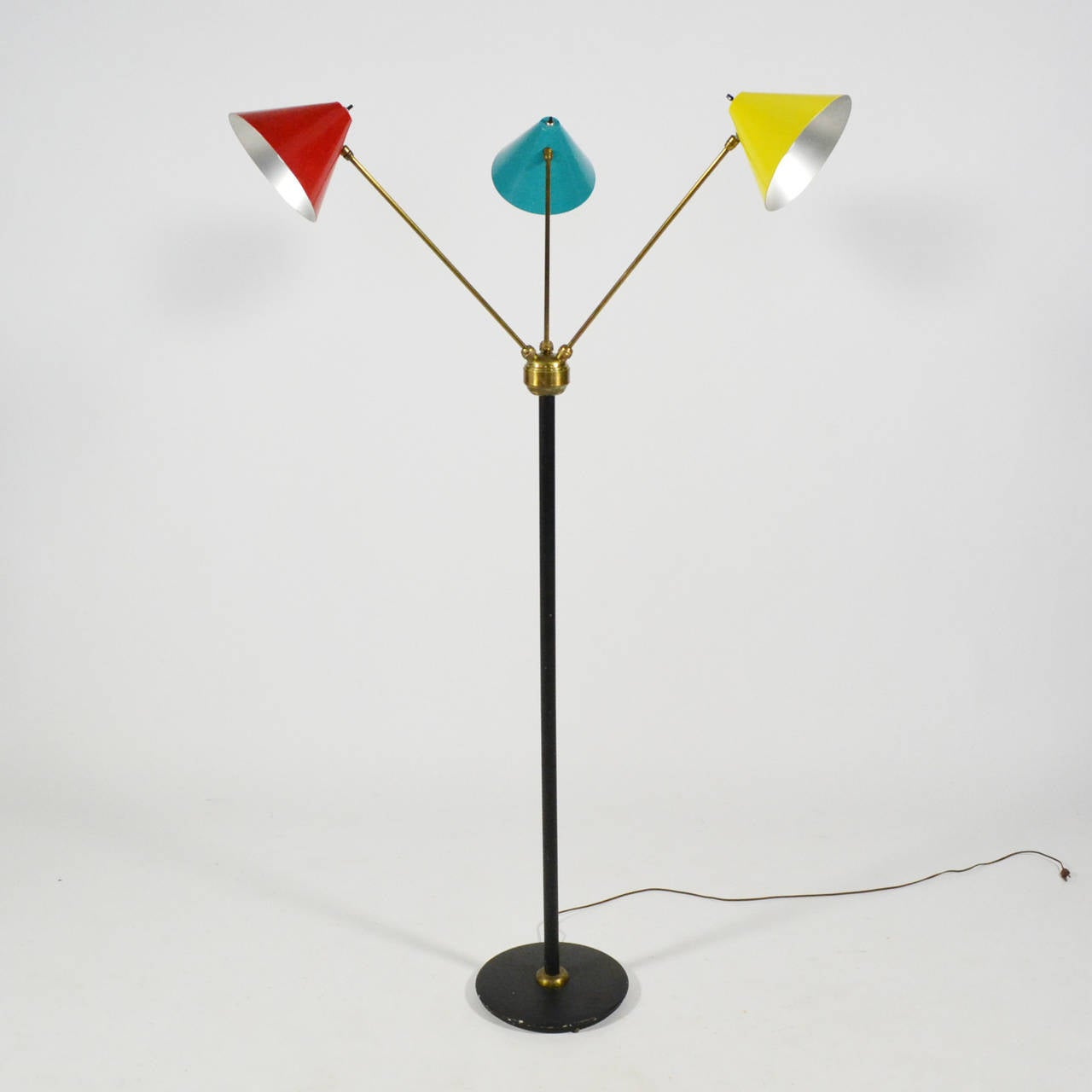 Mid-20th Century Italian Three-Arm Floor Lamp For Sale