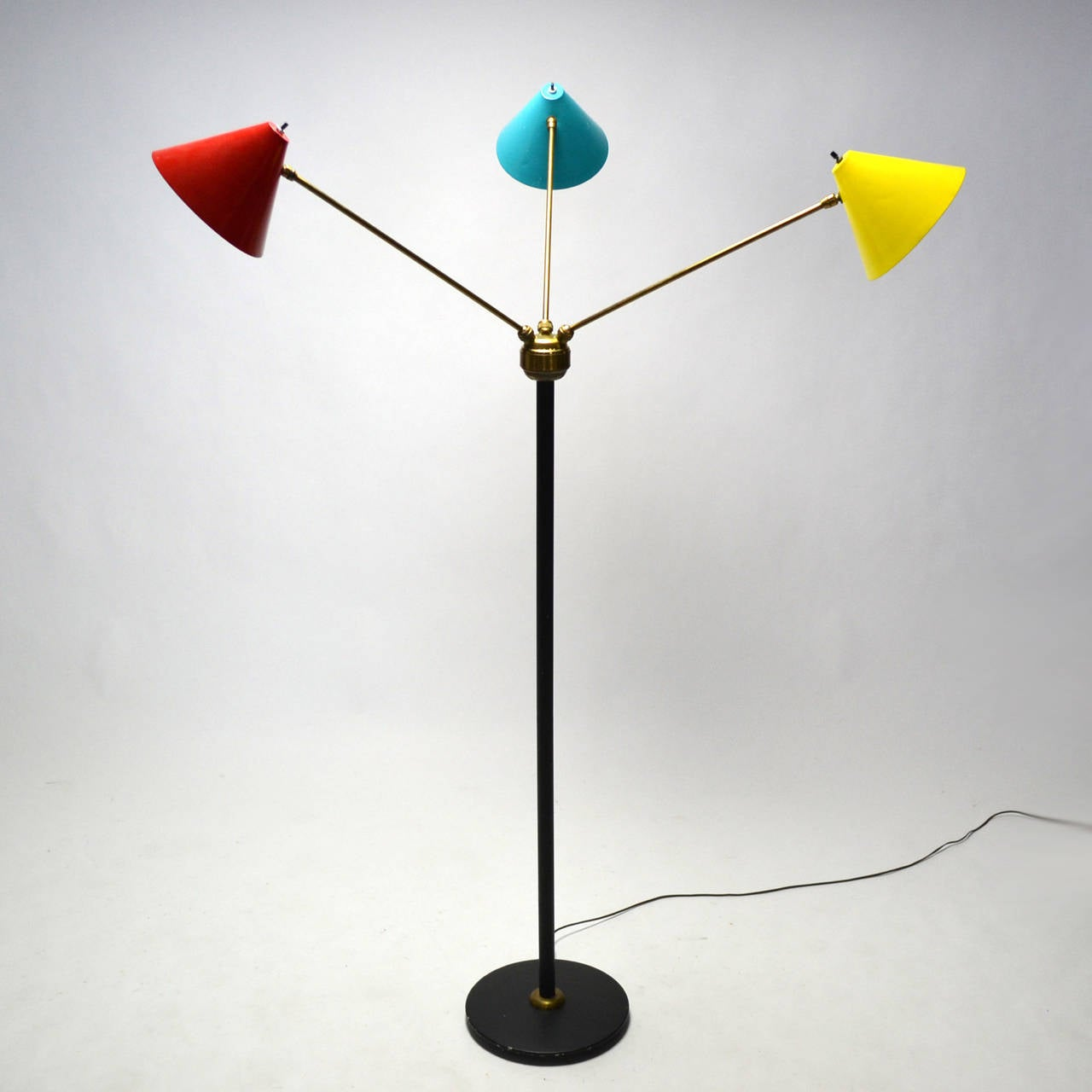 Italian Three-Arm Floor Lamp For Sale 3