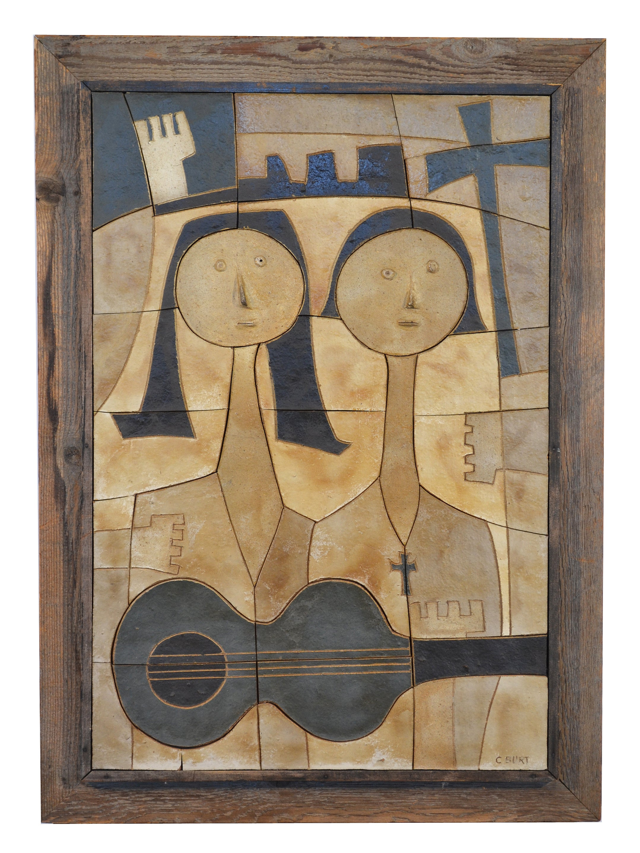 Ceramic Wall Relief by Clyde Burt