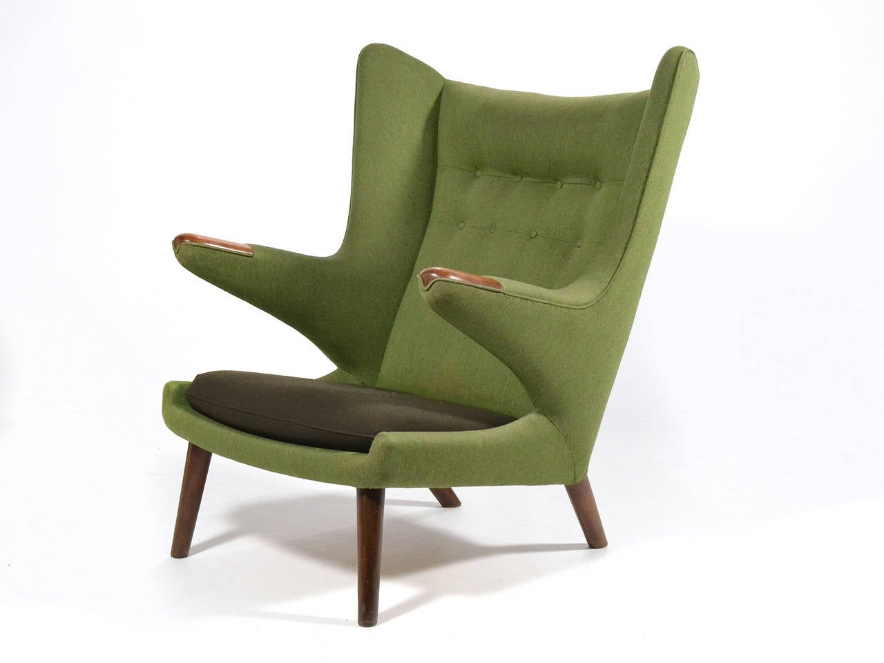 Teak Hans Wegner Papa Bear Chair For Sale