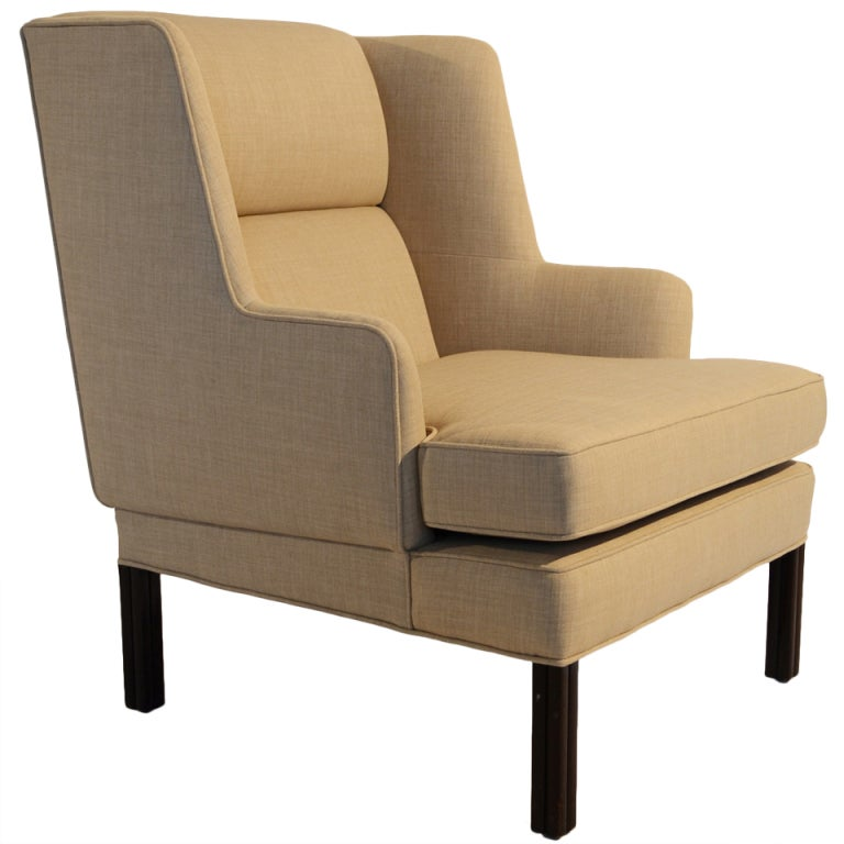 Edward wormley wingback chair by dunbar at 1stdibs