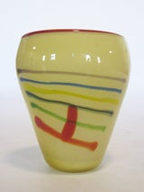 Large Art Glass Vase With Linear Design image 4