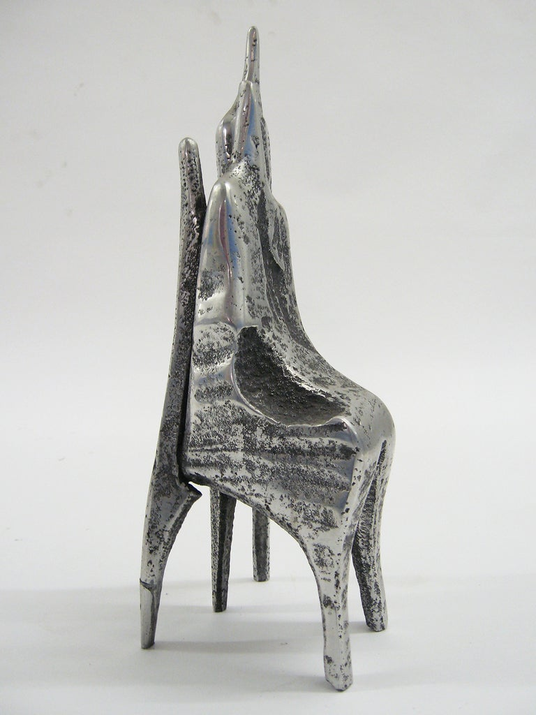 Aluminum Sculpture by Aharon Bezalel In Excellent Condition For Sale In Highland, IN