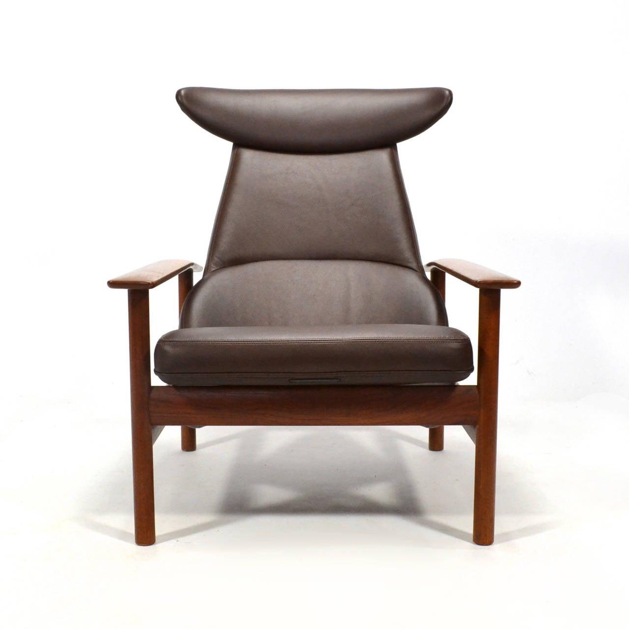Scandinavian Modern Sven Ivar Dysthe Reclining Lounge Chair For Sale
