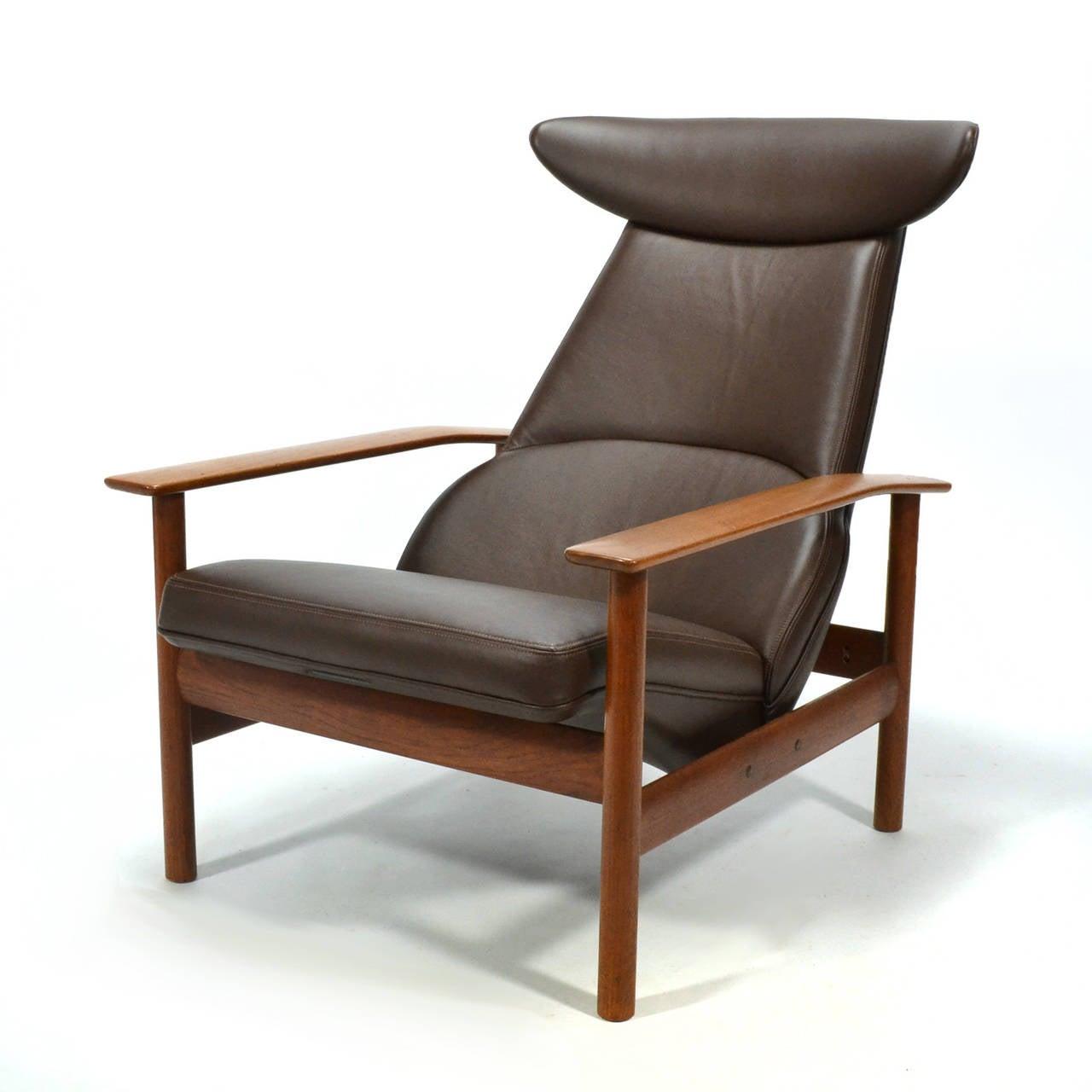 Norwegian Sven Ivar Dysthe Reclining Lounge Chair For Sale