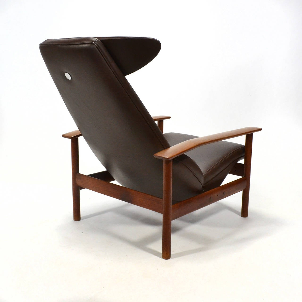 Leather Sven Ivar Dysthe Reclining Lounge Chair For Sale