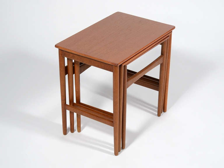 These Lovely Little Set Of Teak Tables Designed By Hans Wegner For Andreas  Tuck Are Light