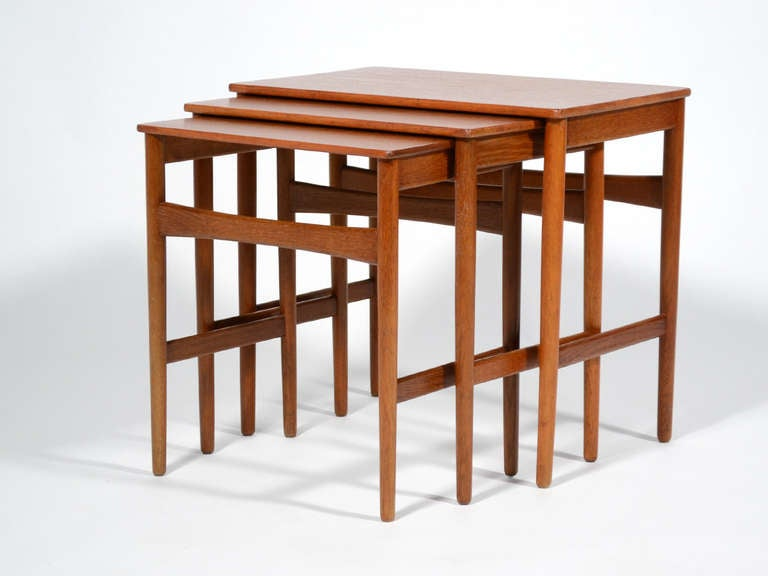 Danish Hans Wegner Nesting Tables by Andreas Tuck For Sale