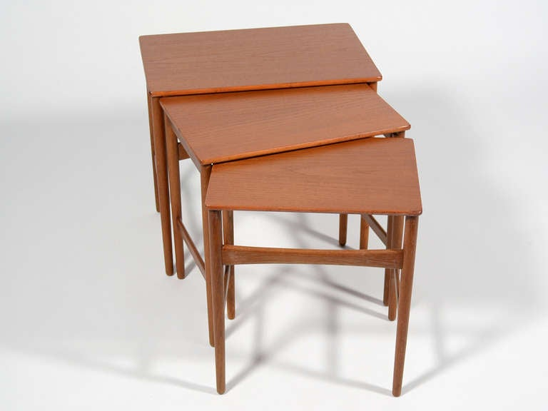 Mid-20th Century Hans Wegner Nesting Tables by Andreas Tuck For Sale