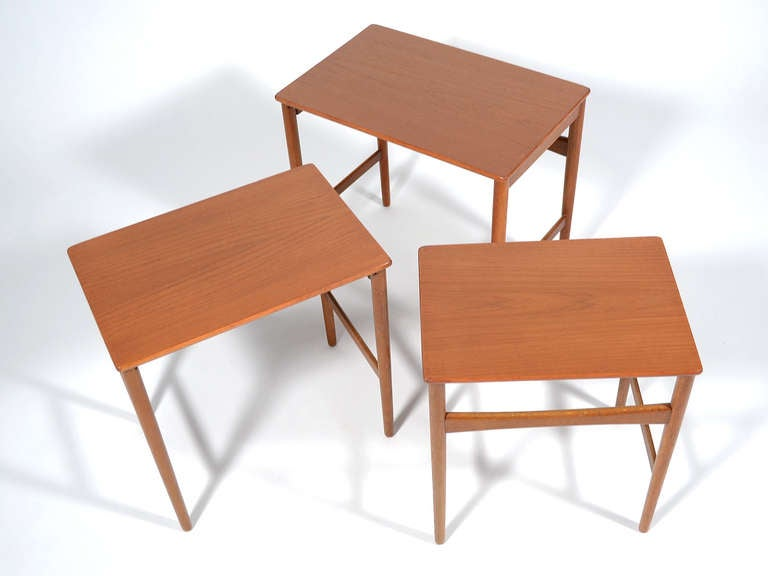 Hans Wegner Nesting Tables by Andreas Tuck For Sale 1