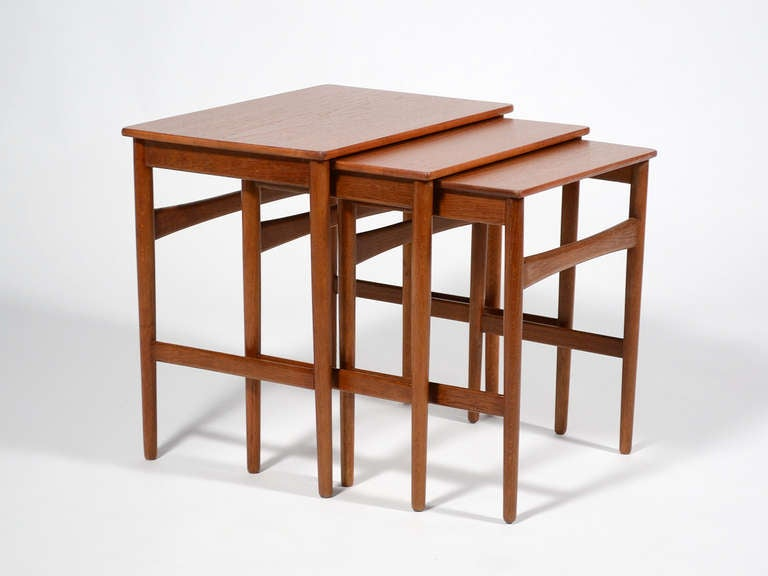 Hans Wegner Nesting Tables by Andreas Tuck For Sale 3