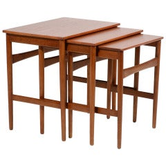 Hans Wegner Nesting Tables by Andreas Tuck