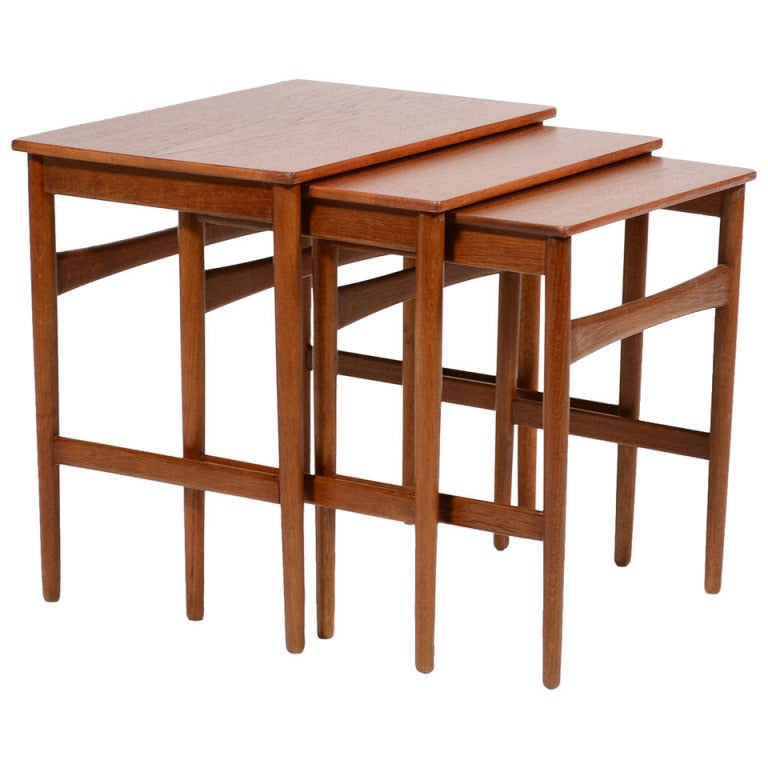 Hans Wegner Nesting Tables by Andreas Tuck For Sale