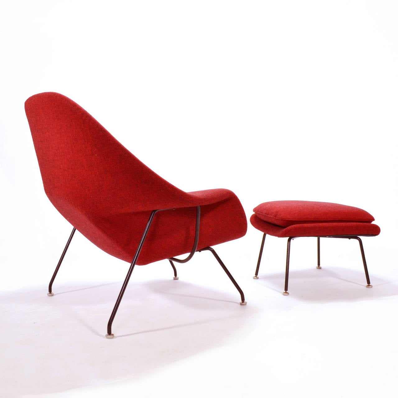 eero saarinen womb chair and ottoman upholstered in alexander girard fabric at 1stdibs. Black Bedroom Furniture Sets. Home Design Ideas