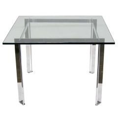 Chome and glass dining table by James Howell for Tri-Mark *Saturday Sale*