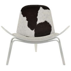 Hans Wegner Shell Chair with Hairy Hide