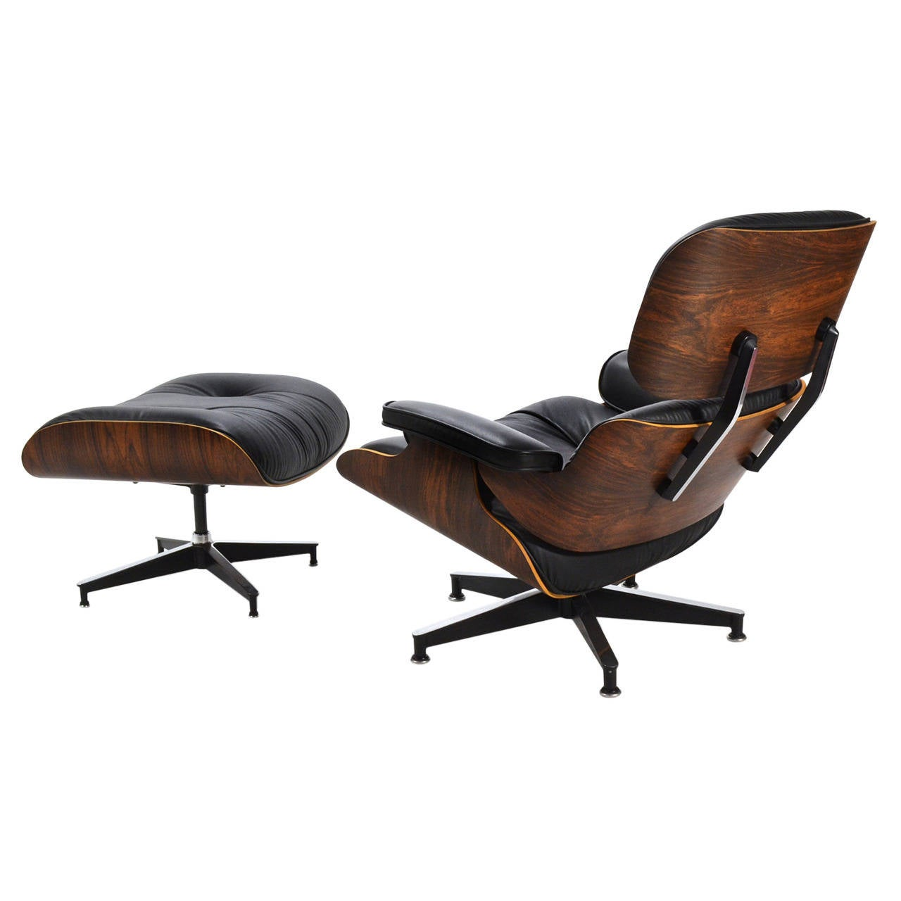 Eames rosewood 670 lounge chair and ottoman by herman - Herman miller lounge chair and ottoman ...