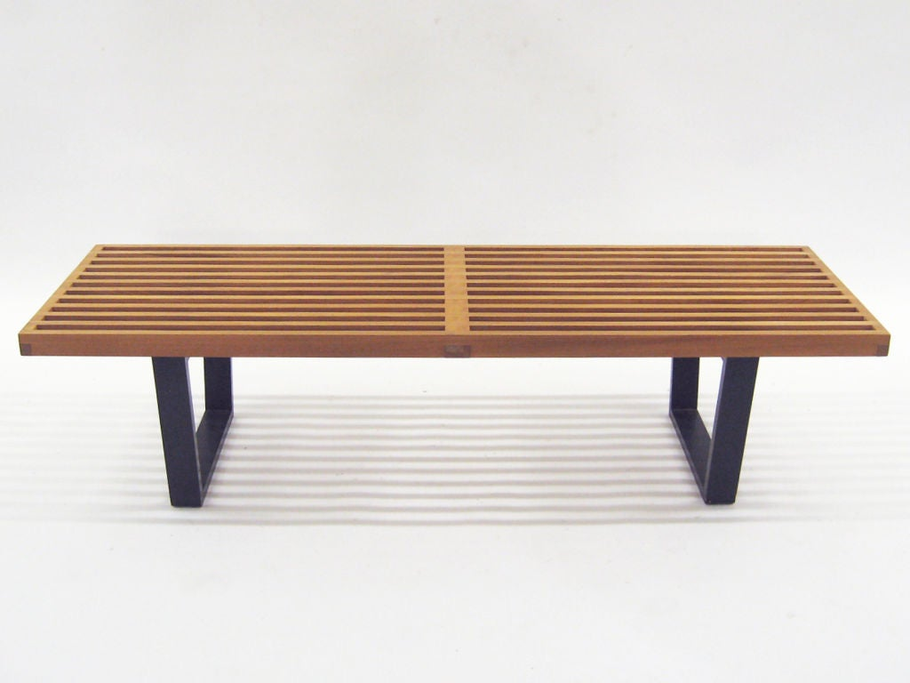 George Nelson Slat Platform Bench By Herman Miller Mint 1952 At 1stdibs