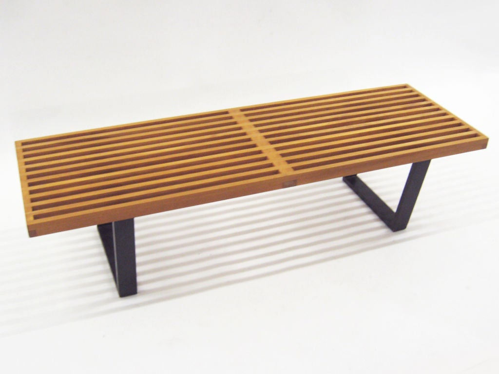George Nelson Slat Platform Bench By Herman Miller Mint 1952 At 1stdibs