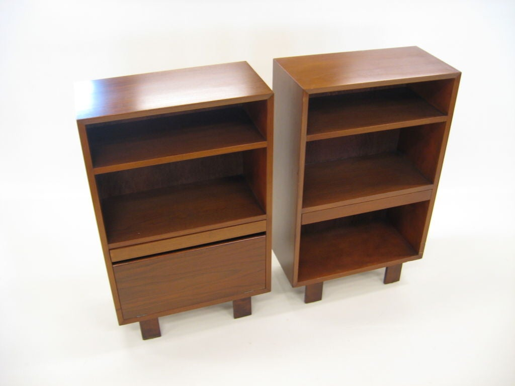 George Nelson Walnut Nightstands By Herman Miller At 1stdibs
