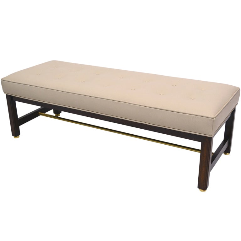 Edward wormley upholstered bench by dunbar at stdibs