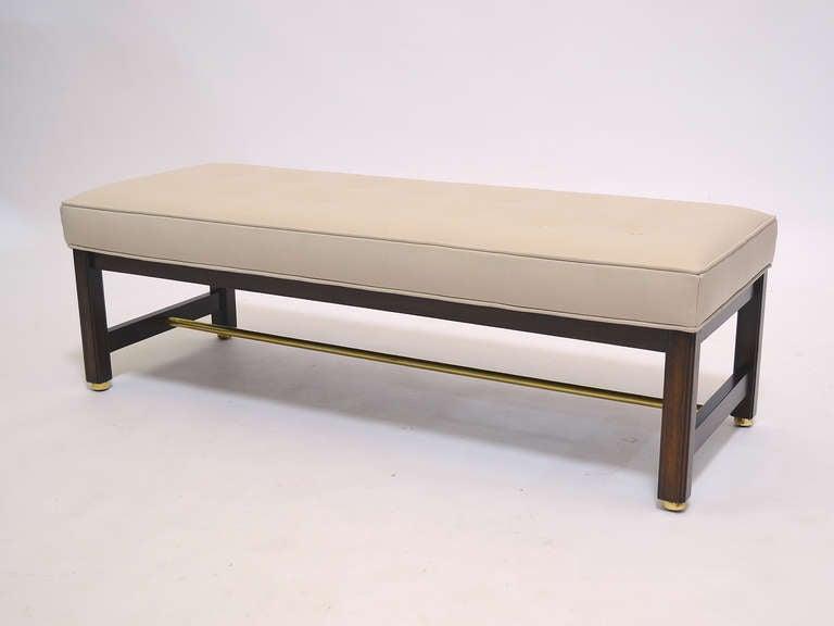 Edward Wormley upholstered bench by Dunbar at 1stdibs