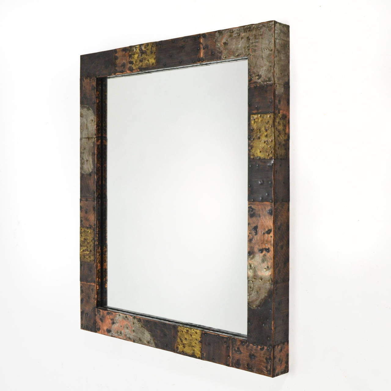 Paul Evans Patchwork Mirror and Wall-Mounted Console 6