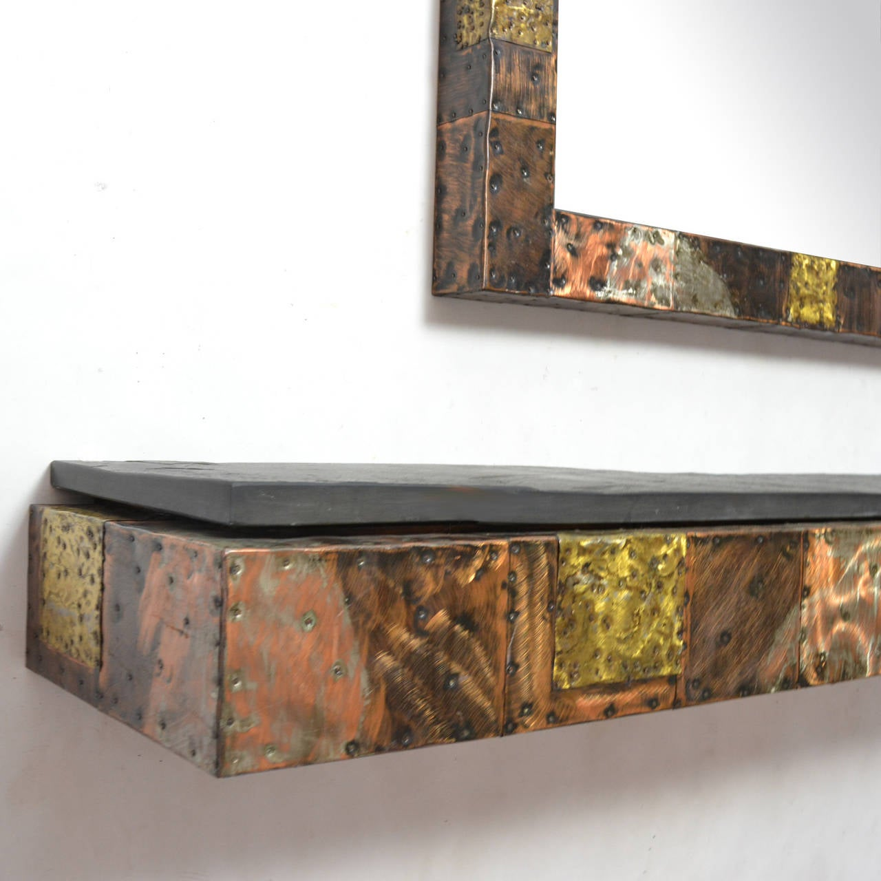 Paul Evans Patchwork Mirror and Wall-Mounted Console 9