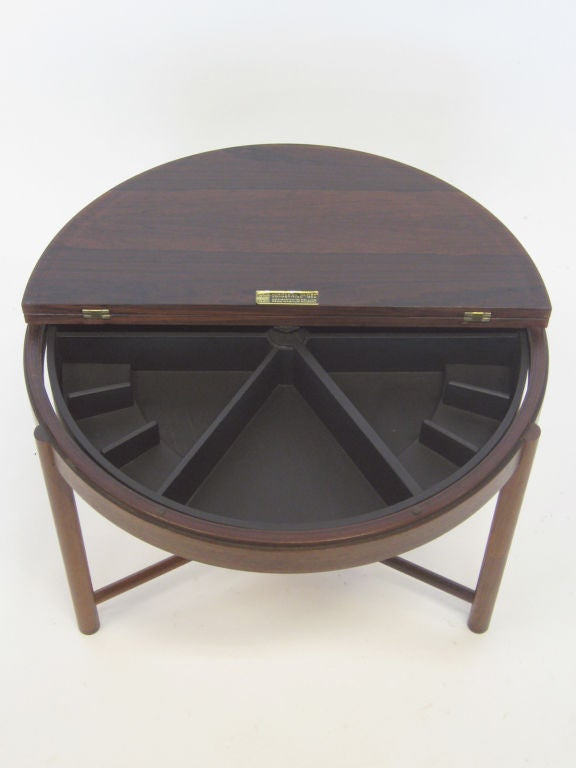 Scandinavian Modern Rosewood Table by Rolf Rastad & Adolf Relling For Sale