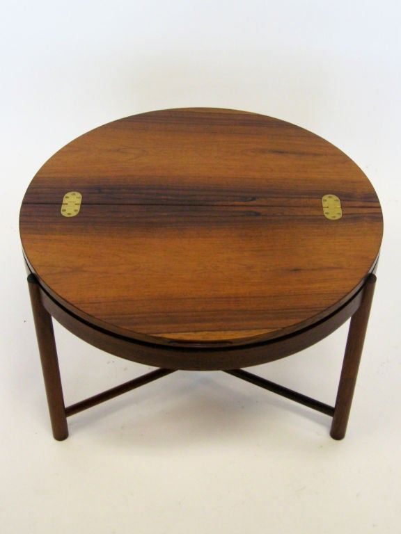 Norwegian Rosewood Table by Rolf Rastad & Adolf Relling For Sale