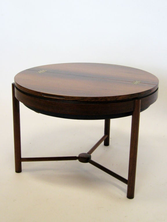 Rosewood Table by Rolf Rastad & Adolf Relling In Good Condition For Sale In Highland, IN