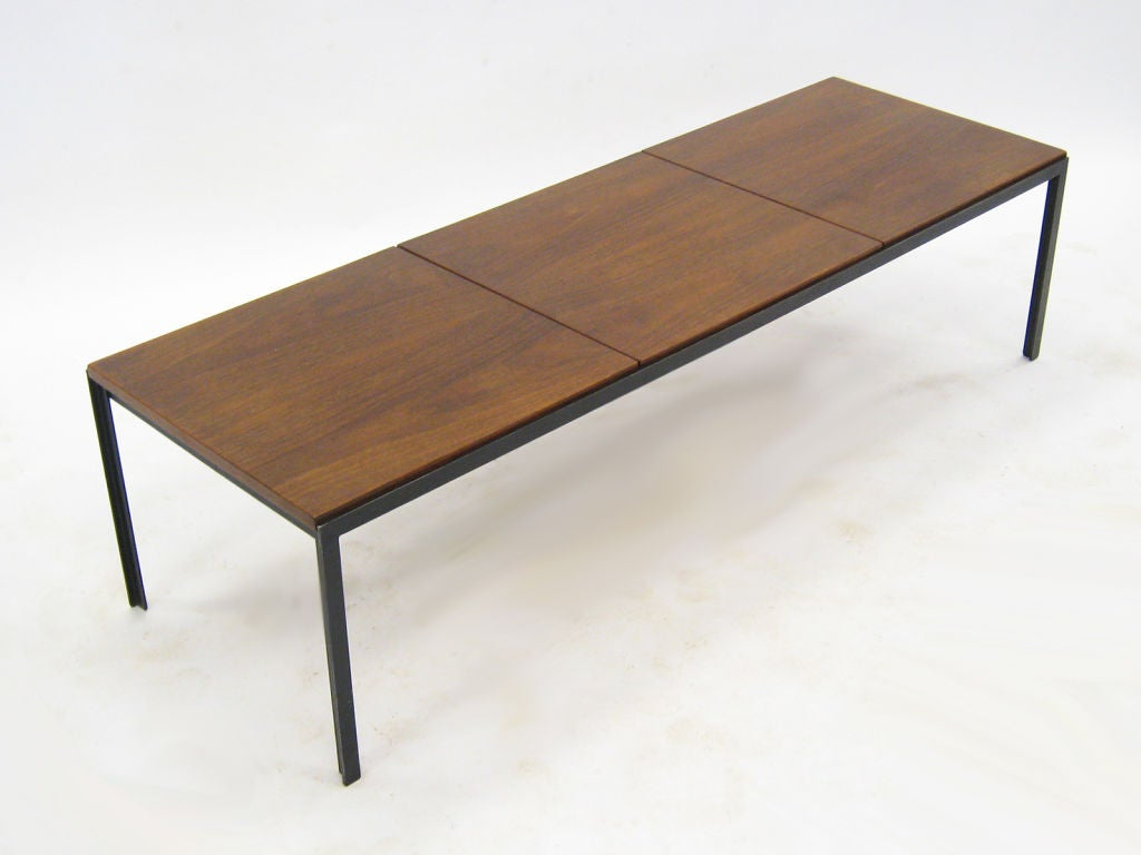 Florence knoll t angle iron coffee table at 1stdibs Florence knoll coffee table