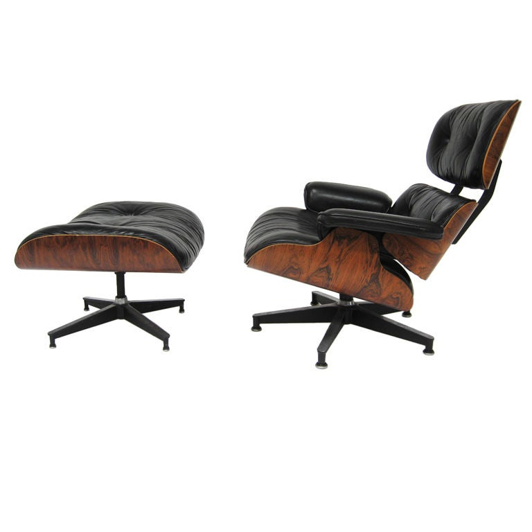 eames lounge chair by herman miller with highly figured rosewood at