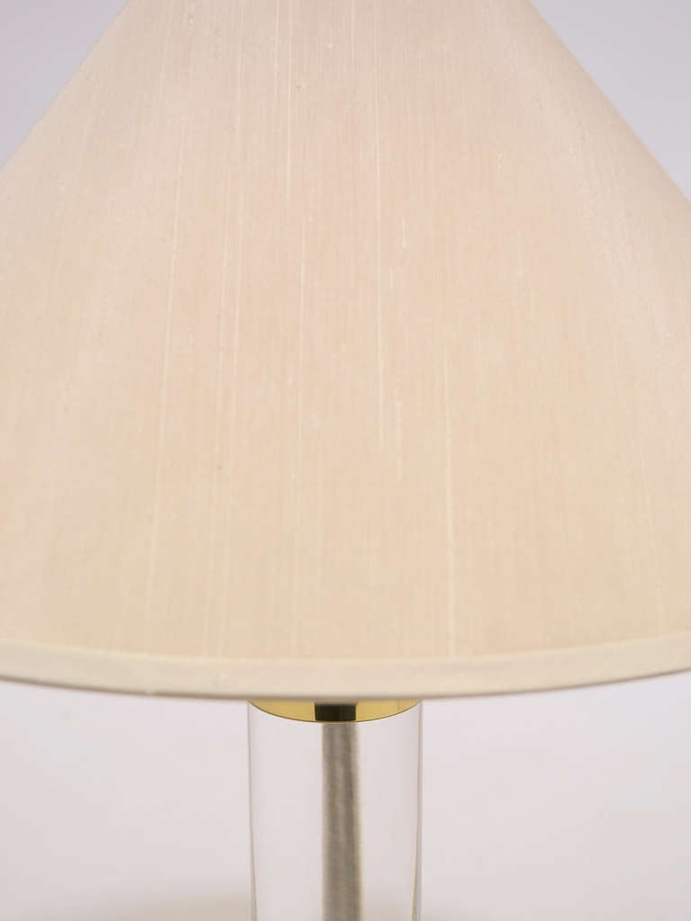 Lucite and Brass Table Lamp by Frederick Cooper For Sale 2