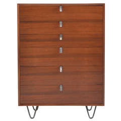 George Nelson Walnut Six Drawer Chest by Herman Miller