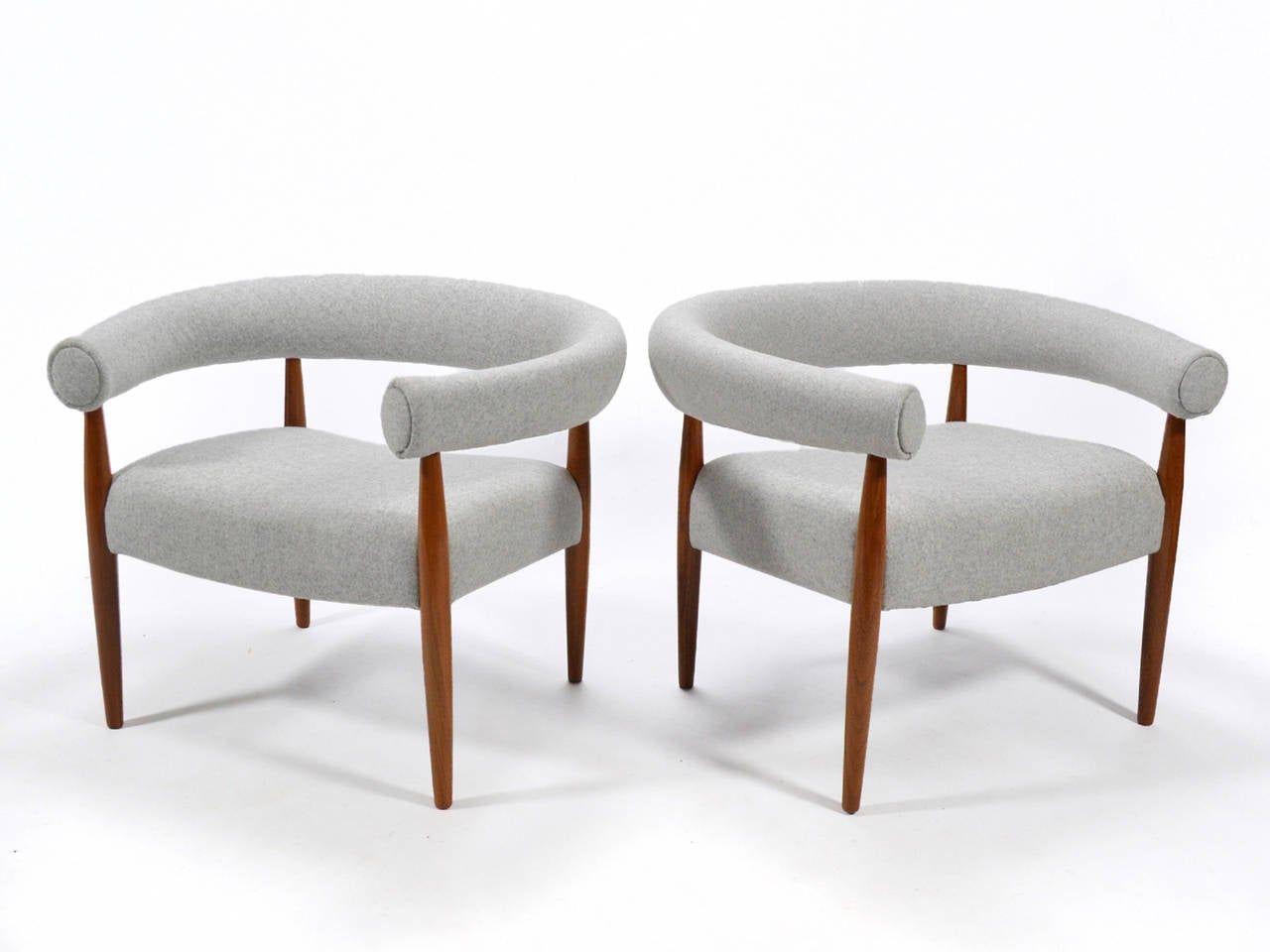 Nanna U0026 Jørgen Ditzel Pair Of Ring Chairs In Excellent Condition For Sale  In Highland,