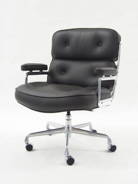 this pair of leather eames time life chairs by herman miller is no