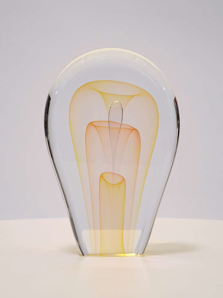 Blown Glass Art Glass Sculpture by Ed Nesteruk For Sale