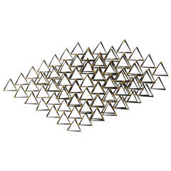 Stacked Triangles Wall Sculpture by Degroot