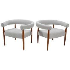 Nanna & Jørgen Ditzel Pair of Ring Chairs