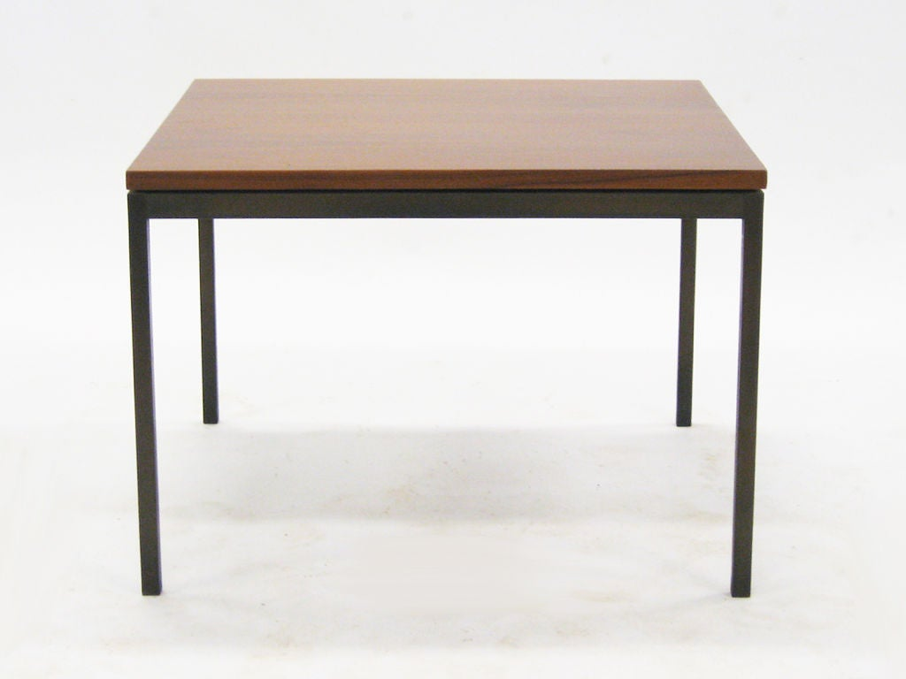 Florence Knoll Coffee End Table With Rare Bronze Base At