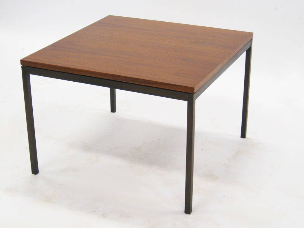 florence knoll coffee end table with rare bronze base at 1stdibs. Black Bedroom Furniture Sets. Home Design Ideas