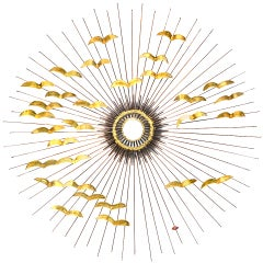 Sunburst wall sculpture by DeGroot *Saturday Sale*