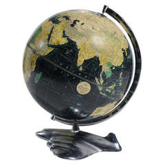 Weber Costello Deco Airplane Base Black Oceans Globe