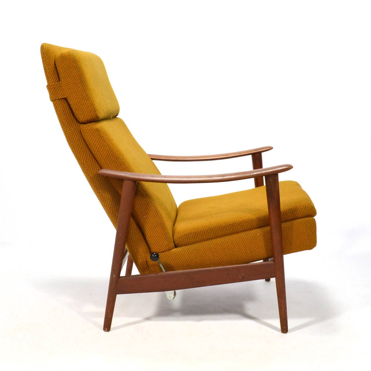 Captivating Danish Teak Reclining Lounge Chair 3