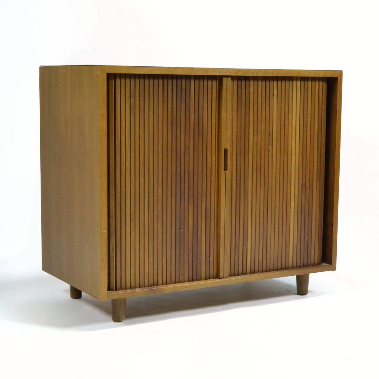 Milo Baughman Tambour Door Cabinet by Glenn of California For Sale ...