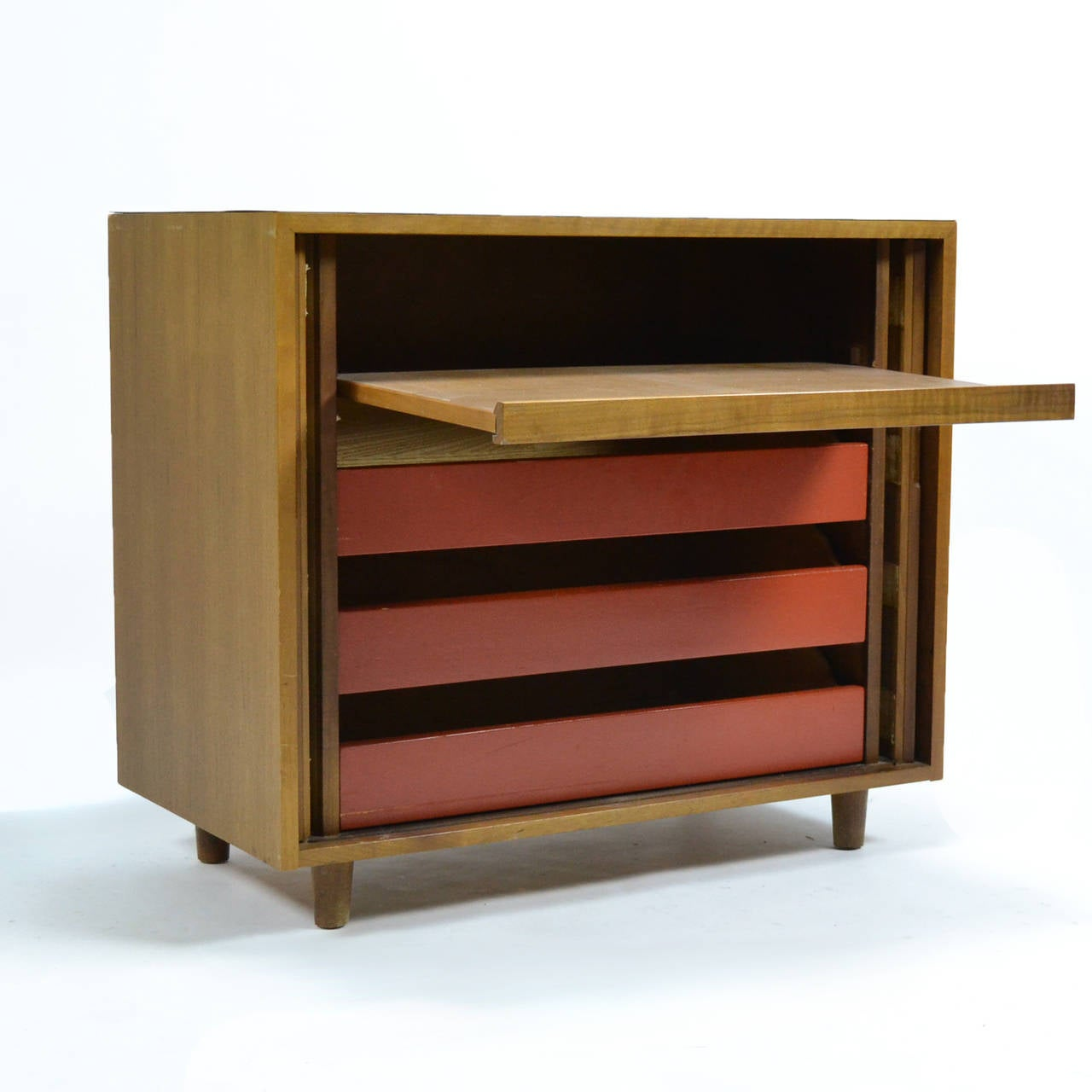Mid-20th Century Milo Baughman Tambour Door Cabinet by Glenn of California For Sale