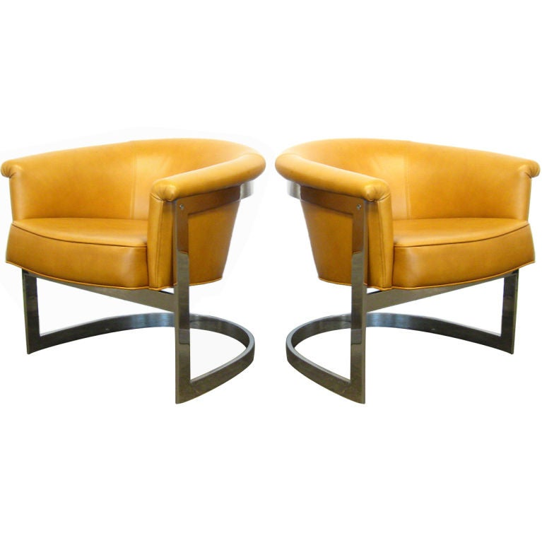 Pair of Milo Baughman lounge chairs by Thayer Coggin