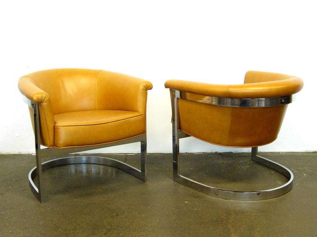Pair of Milo Baughman lounge chairs by Thayer Coggin 2