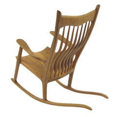 Sam Maloof Style Rocking Chair in White Oak